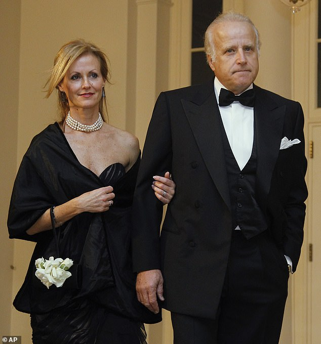 James Biden is seen right with his wife, Sara Biden, at the White House in October 2011