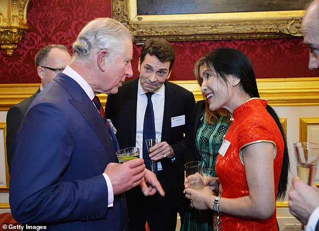 Royal connections: Li Xuelin with Prince Charles in 2017