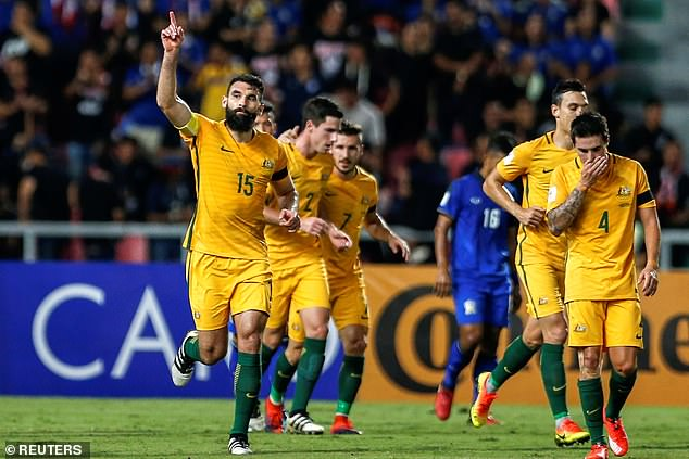 Jedinak's (pictured playing for the Socceroos) announcement ended speculation he would play in the A-League again
