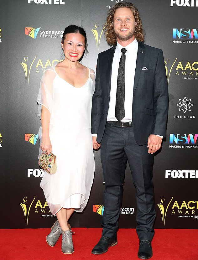 Back to work! Poh (pictured with husband Jono Bennett) recently returned to work at her cafe Jamface, in Adelaide after being eliminated from MasterChef: Back to Win