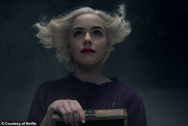 Canceled: Earlier this week, Netflix announced that their supernatural drama series the Chilling Adventures Of Sabrina would be would be ending after 'part four,' which is set to debut later this year; Kiernan Shipka as Sabrina in Part Four of the Chilling Adventures Of Sabrina