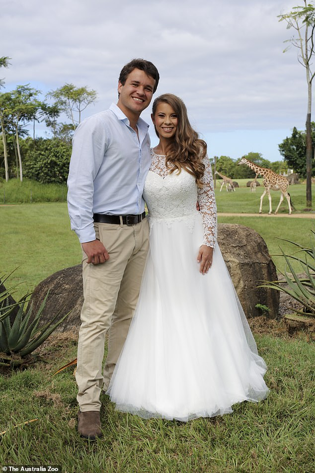 Wedding day: On March, 25, Bindi and her boyfriend Chandler Powell raced down the aisle, just hours before Prime Minister Scott Morrison enforced restrictions on weddings amid the coronavirus pandemic