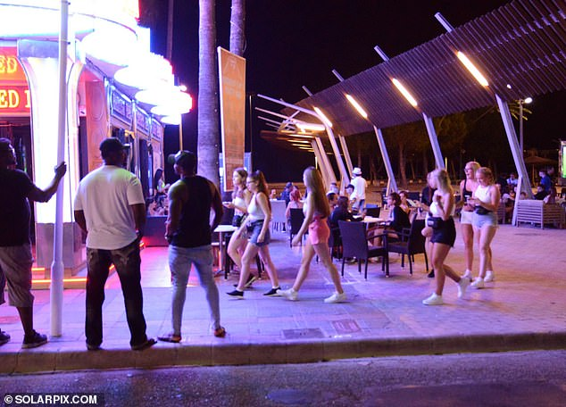 British tourists arrived to the famous party strip in Spain to enjoy the start of their holidays