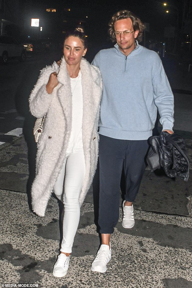 EXCLUSIVE: Jodi Gordon, 35, looked absolutely smitten as she enjoyed a dinner date with new Swiss lawyer beau Cedric in Sydney's Bondi on Friday (both pictured)