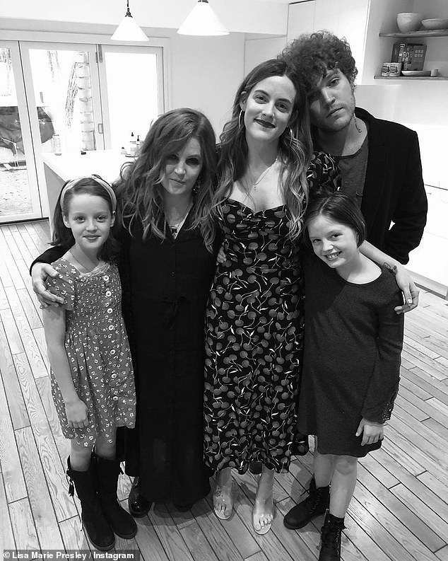 Lisa Marie, second from left, is pictured with her four children; twins Finley and Harper, front left and right, and Benjamin, back right, and his sister Riley, center