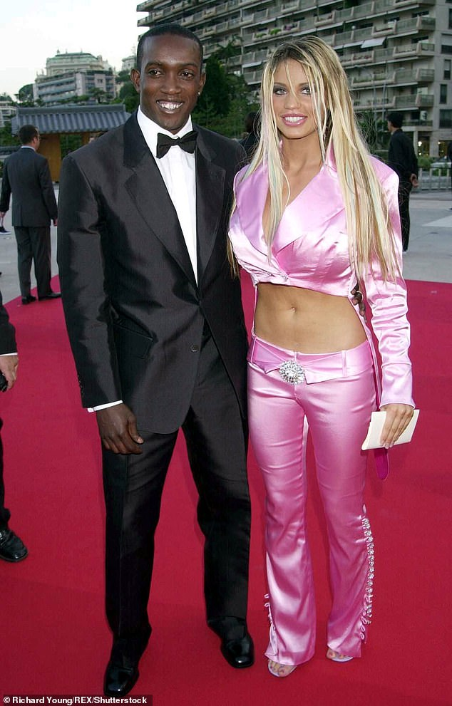 Estranged:Katie shares Harvey with ex Dwight Yorke, who she split from by the time she gave birth (pictured in 2001)