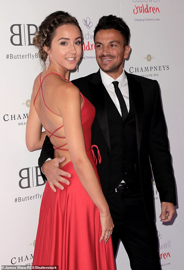Issues:Harvey's initial health scare is the second to affect the family last month, as Peter Andre's wife Emily recently revealed she tested positive for coronavirus (pictured in 2019)