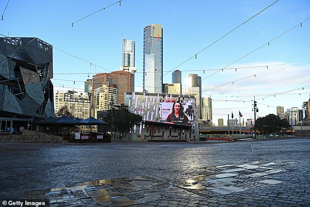 More than 100 Victorians have been fined in the past 24 hours for breaking the rules for locking out coronaviruses, including more than 30 people captured at social gatherings.  In the photo: an empty Federation Square in Melbourne on Monday
