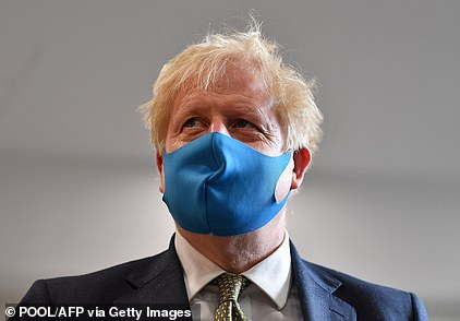 Boris Johnson wore his facemask again today as he visited the headquarters of the London Ambulance Service