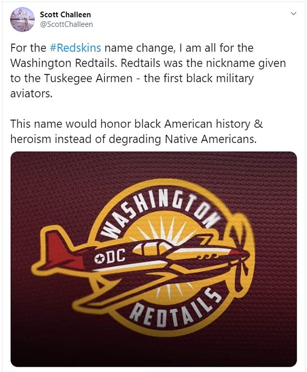 The team has hinted it would like to honor the US military with the name change in some way