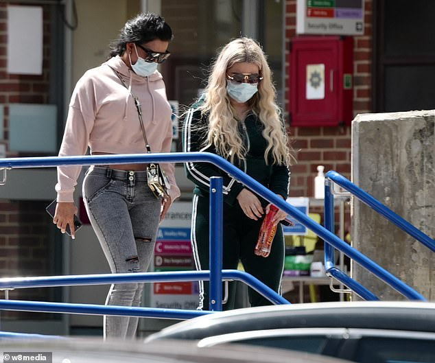 Ill: A spokesperson for Harvey has told MailOnline: 'This is most likely linked to the bug he had when he was rushed into hospital last week. It is not COVID-19, it is an unknown bug'