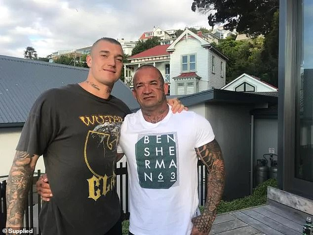 Shane Martin (pictured, right) the father of AFL star Dustin Martin (left) was deported to NZ in 2016 over drug and assault convictions