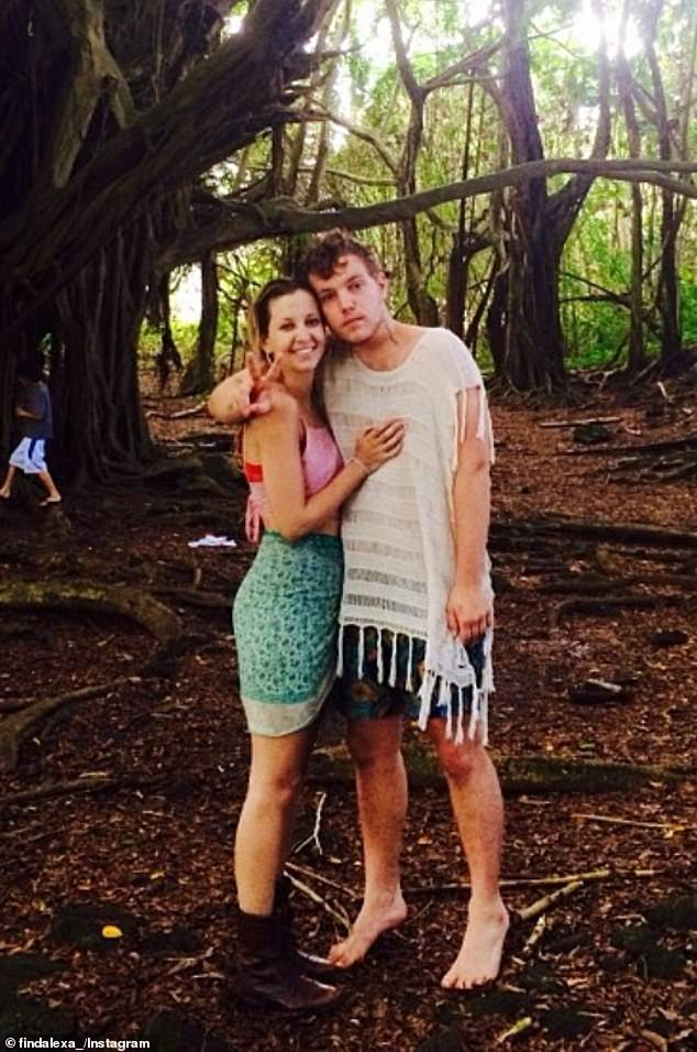 The Presley family began gathering at the house later on Sunday, after news of the shocking reported suicide emerged.Benjamin Keough is pictured with his ex-girlfriend