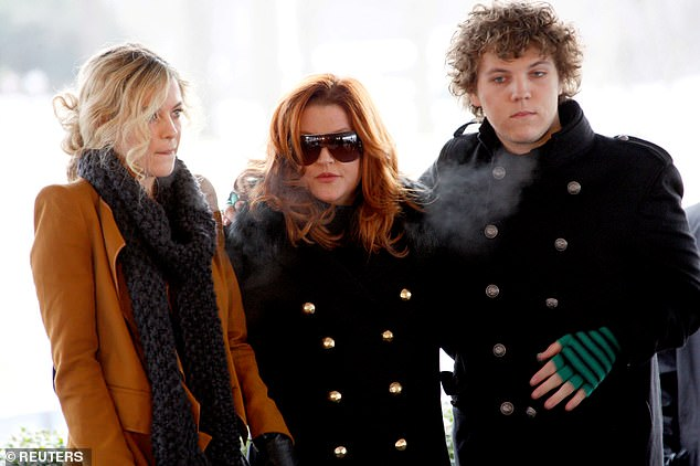 ¿The important thing is that the entire family was shaped by Scientology, and it¿s paying the price because of it,¿ the source said (Left to right: Riley, Lisa Marie, and Ben in 2010, when they were still members of the Church of Scientology)