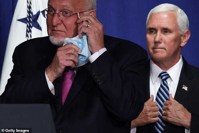CDC Director Robert Redfield (left) and Vice President Mike Pence (right) announced the CDC would issue five new documents with guidelines on reopening schools. Redfield asserted that the guidelines should not be used as a rationale for school's to remain closed