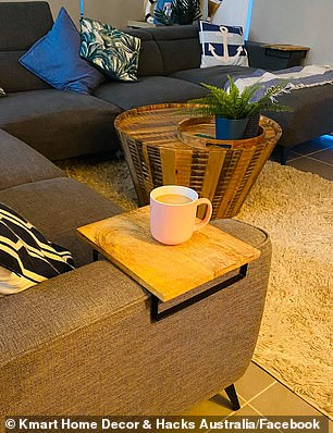 An Australian mother-of-three has shared how she created an instant coffee table using a cheap Kmart product