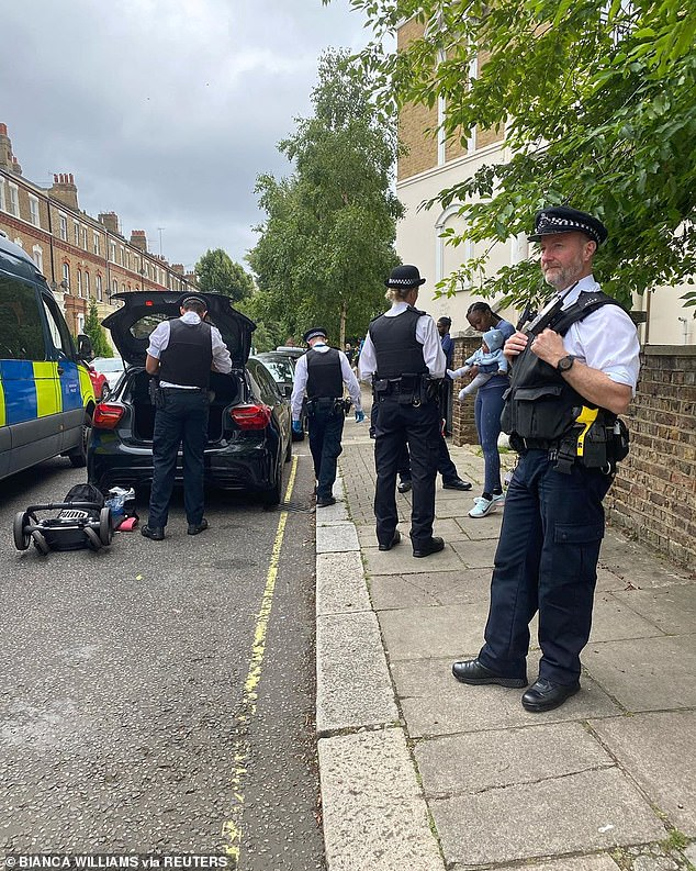 British sprinter Bianca Williams was stopped and searched by police on July 4 outside her home. Police pulled over the Mercedes and took Ms Williams and her partnerRicardo dos Santos. The couple were travelling with their infant son