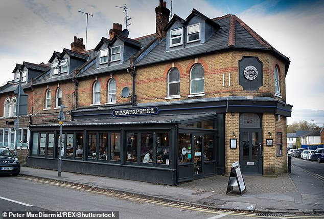 The infamous Woking branch of Pizza Express immortalised by Prince Andrew claiming to have been there on the night Virginia Roberts accused him of sleeping with her