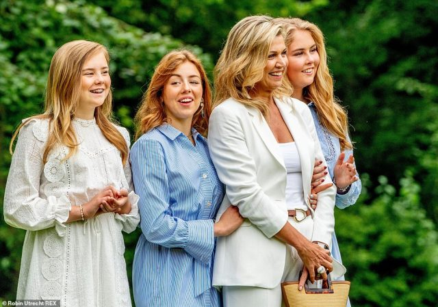 Maxima's mini-mes! All three of Maxima's daughters, Princess Alexia, Princess Amalia and Princess Ariane, bare a striking resemble to their mother
