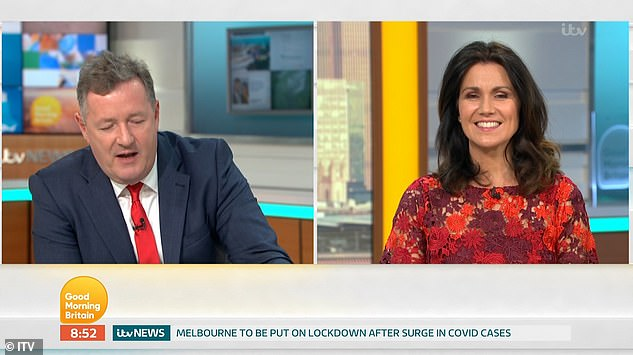 Thank you: Last week, Piers and Susanna said goodbye to GMB for the summer and thanked the team behind the scenes for the hard work they dedicated to `` the story of their lives ''