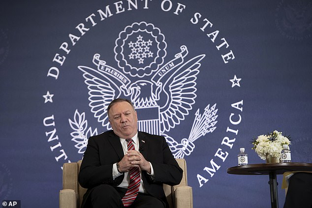US Secretary of State Mike Pompeo, pictured, welcomed the UK's decision to strip Huawei's equipment from its 5G network