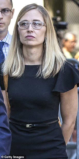 Annie Farmer outside New York court on July 15, 2019