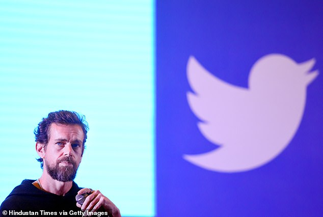 Twitter CEO Jack Dorsey is seen above. Wednesday's massive hack of the social media site was perpetrated by a group of young pals with no state ties, according to a new report