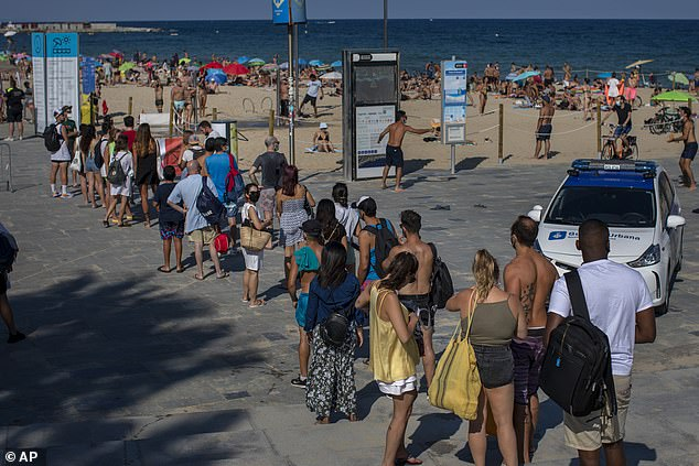 Residents even queued to get onto the beaches despite being told to stay at home wherever possible by the authorities