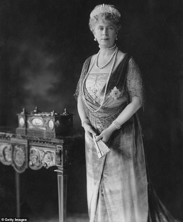 PRECIOUS HEIRLOOM: Queen Mary wearing the tiara in 1926 which was later passed down
