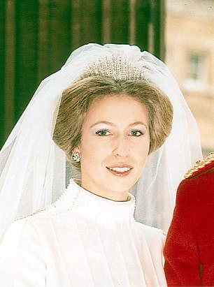 Princess Anne has previously worn the tiara (pictured in 1973)