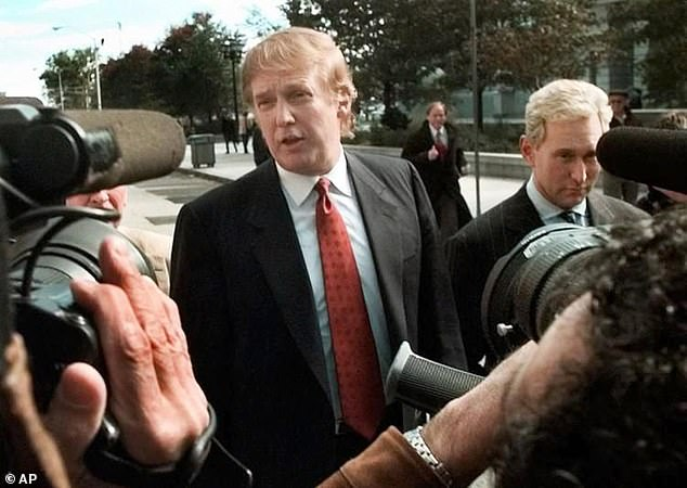 Trump and Stone are photographed together in Newark, New Jersey in October 1999