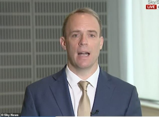 Foreign Secretary Dominic Raab warned that while there had been a 'denial of justice', the UK was powerless in forcing Anne Sacoolas to comply with the authorities