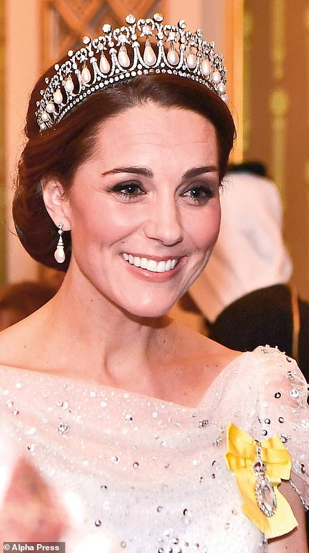 The Duchess of Cambridge (pictured) favours the Cambridge Lover's Knot tiara
