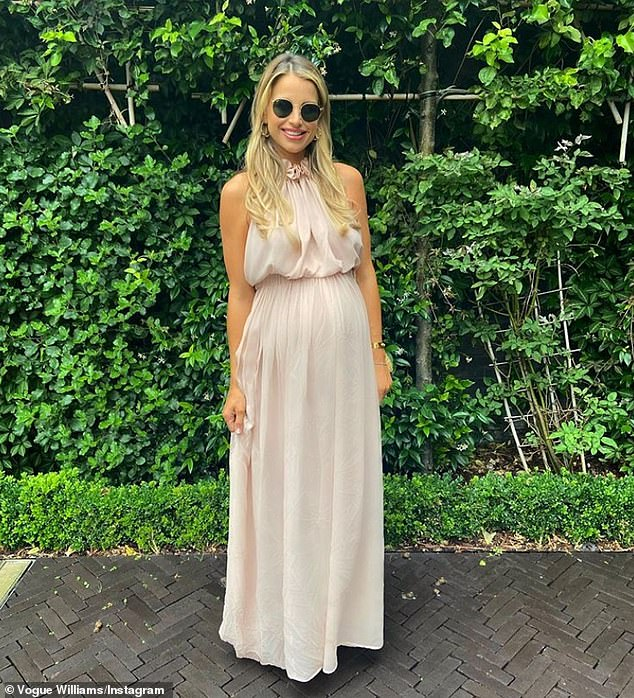 Special delivery: Vogue revealed she expected her and husband Spencer Matthews to be born on Sunday because she 'felt different' during the day at work