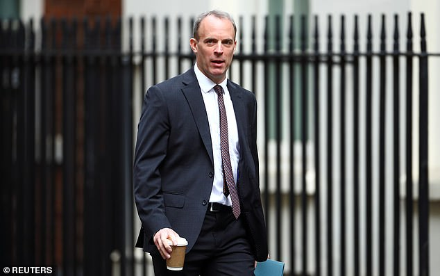 Dominic Raab yesterday urged workers to return to the office to get the economy 'firing on all cylinders' again