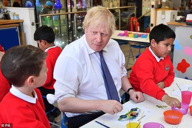 Boris Johnson has promised all children in England 'a superb education' as schools are set to receive a £2.2billion boost in Government funding