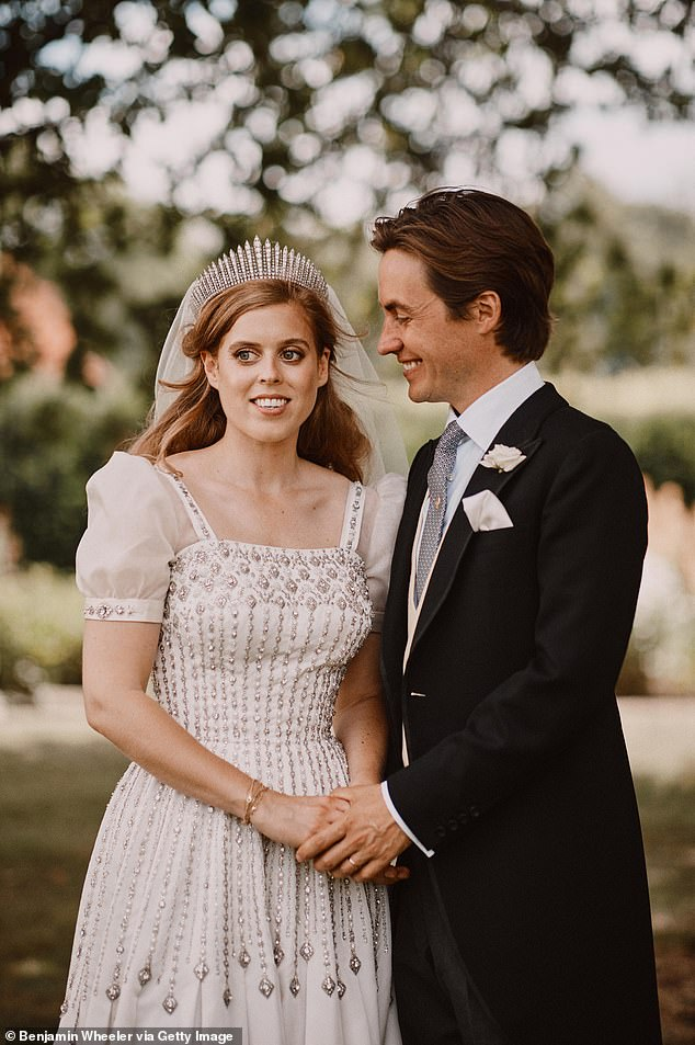 Princess Eugenie, 30, called it a 'complete joy and privilege' to watch Princess Beatrice, 31, marry 'dear'Edoardo Mapelli Mozzi, 36, in a gushing Instagram tribute today