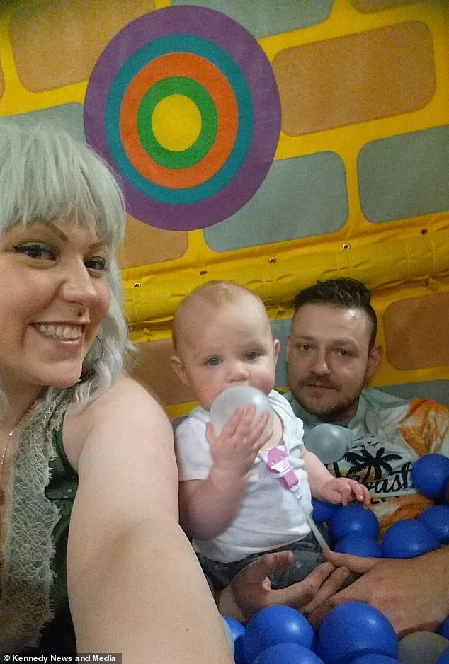 Kiri pictured with her daughter Paiva, two, and partner Adrian, 31, She said that they're both aware Paiva may experience negative comments as she grows up and wanted to prepare her