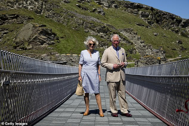 Her visit to the air ambulance base comes as she and Prince Charles embark on a three day visit to the dukedom