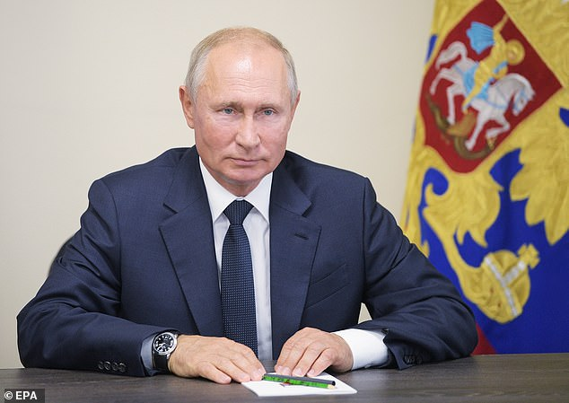 Russia may also have meddled in the Scottish independence referendum, according to the report, which follows an 18-month inquiry. Pictured:Russian President Vladimir Putin