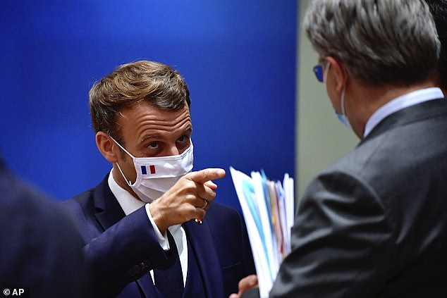 Emmanuel Macron is said to have bashed the table and hit out at Austrian premier Sebastian Kurz for leaving the room