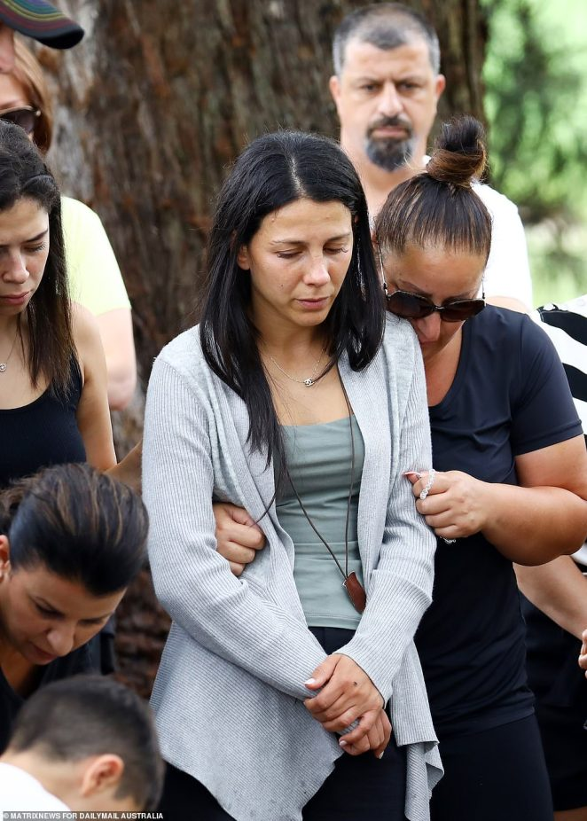 Leila Abdallah (pictured) the mother of three children killed by an alleged drunk driver, bravely returned to the scene of the crash to pray the rosary on February 3