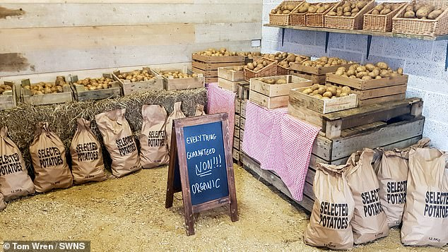 Clarkson opened the £4million farm shop (pictured) last year and he is rumoured to be filming his progress as an 'inept townie' learns how to become a farmer for an Amazon Prime series
