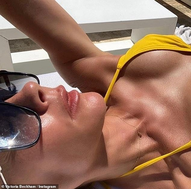 Wow! And while the boys went golfing, Victoria made sure soaked up the sun as she shared her sexiest snap to date