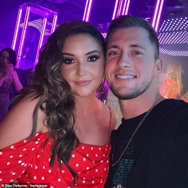 Confession: Gabby's holiday snaps come just days after Dan Osborne confessed to cheating on wife Jacqueline Jossa, of whom she was accused of having a fling with in 2018