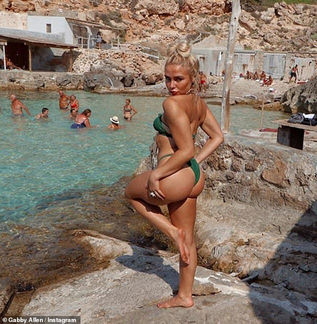 Green Goddess: It appeared that the Liverpudlian native is a big fan of the bottom-baring swimwear as she later donned an emerald green thong bikini for a series of sizzling Instagram snaps