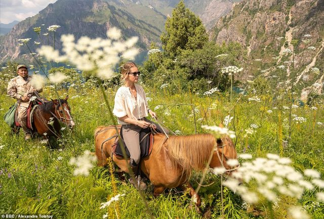 The countess's business 'Travel With Alexandra', which offers a 'Tolstoy tour' to Moscow and Polyana, cultural tour of Moscow and St Petersburg, and horse riding in Kyrgyzstan (pictured) has been shut.