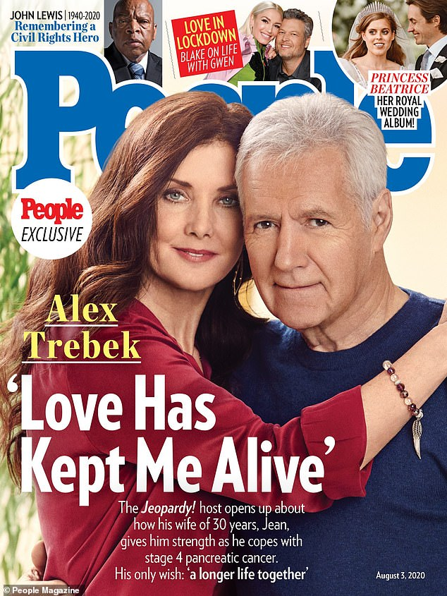 He's leaning on her: The TV personality made it clear that he couldn't have done it alone, telling people, 'She kept me alive.  If it hadn't been for Jean, I would have gotten out of this a long time ago '