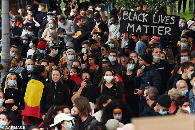 About 4,000 are expected to take to the streets to demand justice for David Dungay junior, an Indigenous man who died in custody in 2015. Pictured: A BLM rally in Sydney on June 6