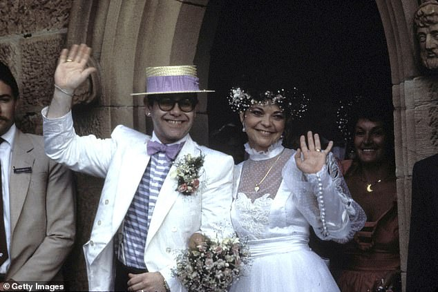 Sir Elton married Renate in February 1984, having met the year before while working on an album